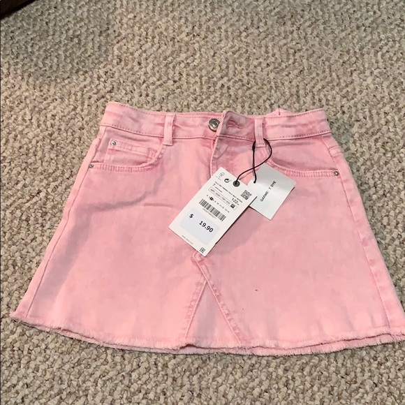 Zara Other - NWT Pink Size 7 Jean Skirt